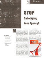 Stop Sabotagin Your Agency!