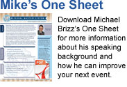 Michael Brizz One Sheet